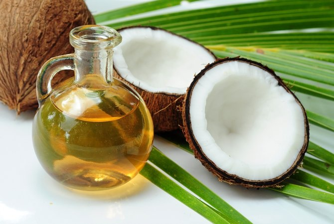 bawang putih dengan minyak kelapa
